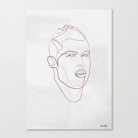 One line Cristiano Ronaldo Canvas Print