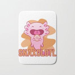Snaxolotl I Funny Kawaii Axolotl Snack Aquarium Fan Gift graphic Bath Mat