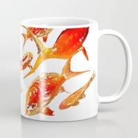 goldfish Mugs featuring Goldfish by Regan's World