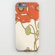 Graphic Poppies Slim Case iPhone 6s