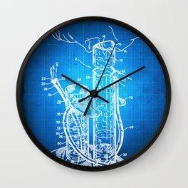 Bong Patent Blueprint Drawing Wall Clock