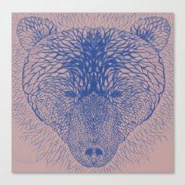 Bear in blue Canvas Print