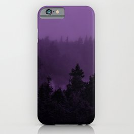 Purple Fog iPhone Case