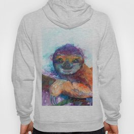 Sloth Mixed Media on Yupo Hoody