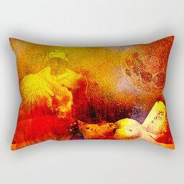 Sleep with an angel Rectangular Pillow