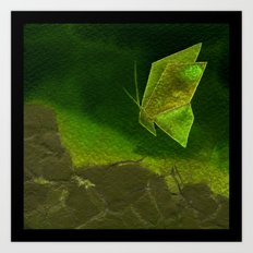 Butterfly Origami 4 Art Print