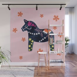 Not your usual Dala horse Wall Mural