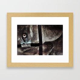 bronze eye Framed Art Print