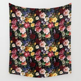 Floral Illustration Wall Tapestry