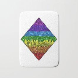 Geometric Rainbow Seven Chakras Bath Mat