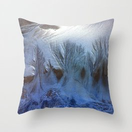 One Night white forest Throw Pillow