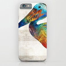 Colorful Pelican Art By Sharon Cummings Slim Case iPhone 6
