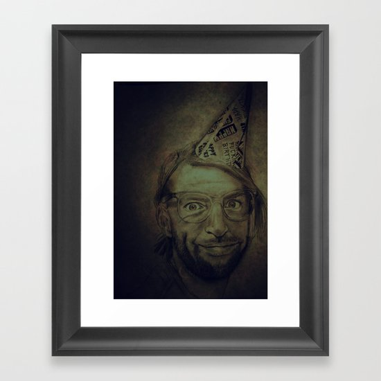 Happy Fucking Birthday Framed Art Print