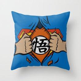 Super saiyan man Throw Pillow