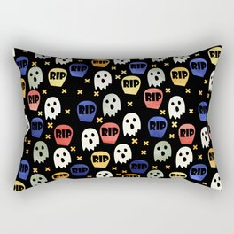 Ghost and Gravestone Halloween Rectangular Pillow