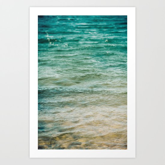 The Color of Water  Art Print