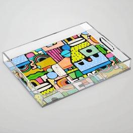 Color Block Collage Acrylic Tray