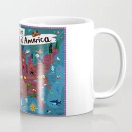 Map of USA Coffee Mug