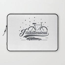 Bicycle with stars and small car Laptop Sleeve