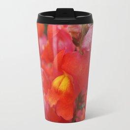 Pink- Orange Snapdragons Travel Mug
