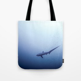 Thresher shark in the blue Tote Bag