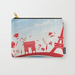 france background with flag and symbol Carry-All Pouch