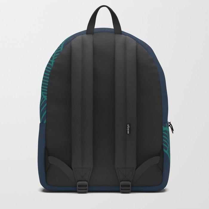 B Rays Geo Pine Blue Backpack