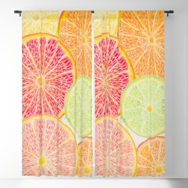Citrus slices Blackout Curtain