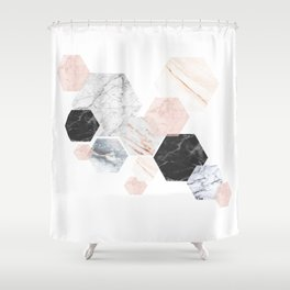 Lost in Marble Shower Curtain