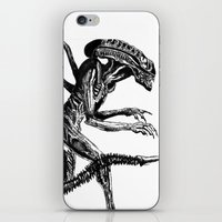 xenomorph iPhone & iPod Skins featuring Xenomorph by Carla Beltra