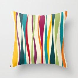Colorful Bohemian Waves Light Throw Pillow