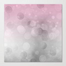 Pink  Grey Soft Gradient Bokeh Lights Canvas Print