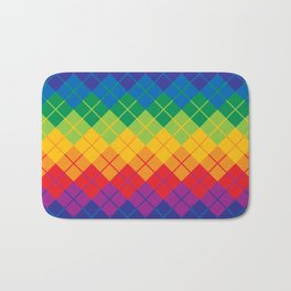 Rainbow Argyle Bath Mat