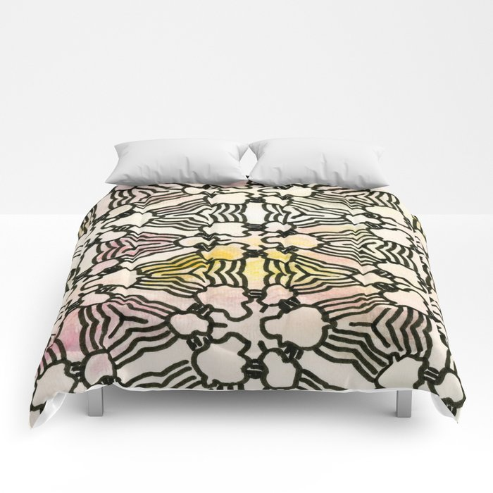 Floral Circuitry Comforters