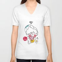 candy V-neck T-shirts featuring candy by Know me