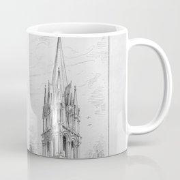 Georg Sutter - The Tower Book (1888): 16 Abbey Church, Saintes; Church of Saint Aubin, Limay Coffee Mug
