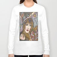 stevie nicks Long Sleeve T-shirts featuring BLAME IT ON MY WILD HEART, STEVIE NICKS by Dream A Little Designs