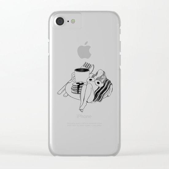 Big Breakfast Clear iPhone Case
