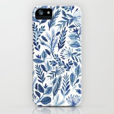 indigo scatter Slim Case iPhone (5, 5s)