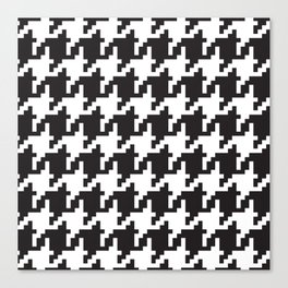 Houndstooth - Black & White Canvas Print
