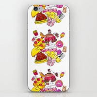 junk food iPhone & iPod Skins featuring Junk Food Party by CindyMakes