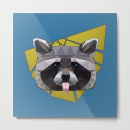 Naughty Raccoon Metal Print