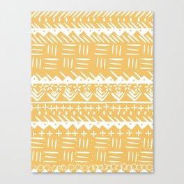 Tribal monochrome mudcloth Canvas Print