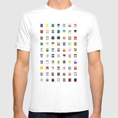 Minimalism beloved Videogame Characters Mens Fitted Tee MEDIUM White