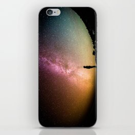 silhouette man stars iPhone Skin