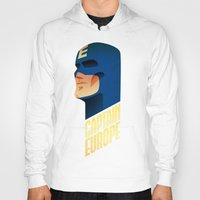 europe Hoodies featuring Captain Europe by Robert Farkas