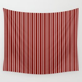 Vintage New England Shaker Village Milk Paint Barn Red Small Vertical Bedding Stripe Wall Tapestry