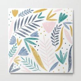 Sketchy Floral Metal Print