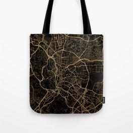 Kuala Lumpur map, Malaysia Tote Bag