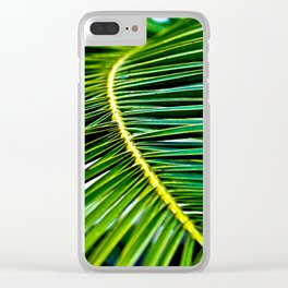 Green Palm Poetry Clear iPhone Case